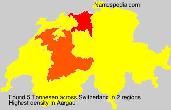 Surname Tonnesen in Switzerland