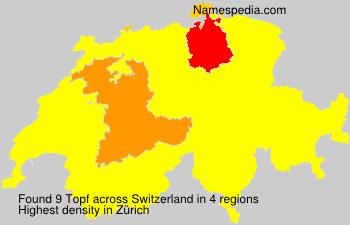 Familiennamen Topf - Switzerland