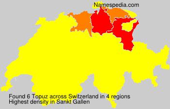Surname Topuz in Switzerland