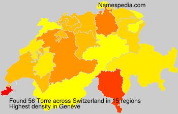 Surname Torre in Switzerland