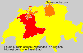 Surname Tosin in Switzerland