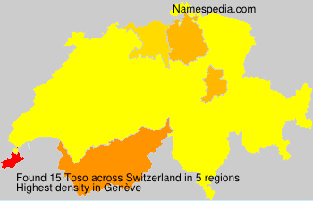 Surname Toso in Switzerland