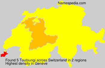 Surname Toutoungi in Switzerland