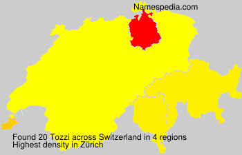 Surname Tozzi in Switzerland