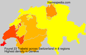 Surname Trabelsi in Switzerland