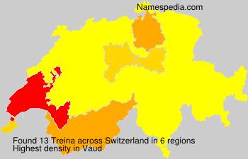 Surname Treina in Switzerland