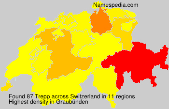 Surname Trepp in Switzerland