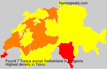 Surname Tresca in Switzerland