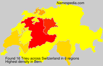 Surname Trieu in Switzerland