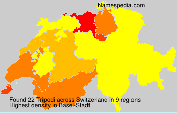 Surname Tripodi in Switzerland