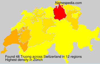 Surname Truong in Switzerland