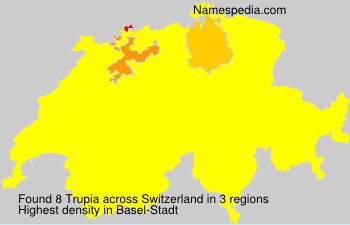 Surname Trupia in Switzerland