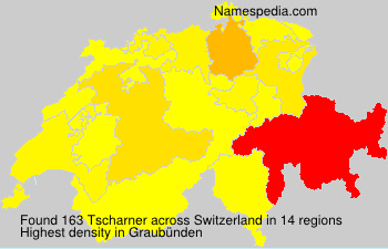 Surname Tscharner in Switzerland