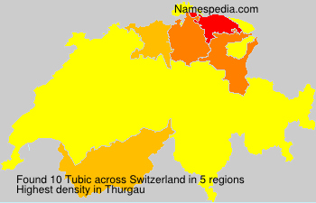 Surname Tubic in Switzerland