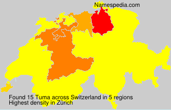 Surname Tuma in Switzerland
