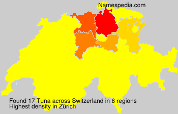 Familiennamen Tuna - Switzerland