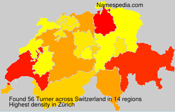 Surname Turner in Switzerland
