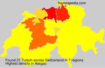 Surname Tutsch in Switzerland