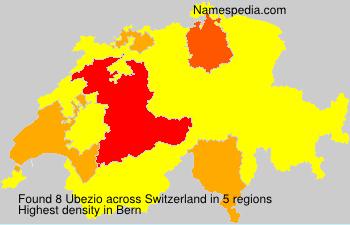 Surname Ubezio in Switzerland