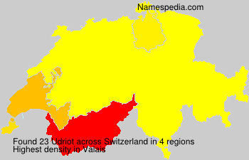 Surname Udriot in Switzerland
