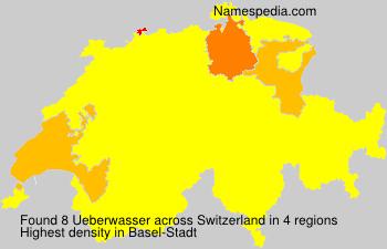 Familiennamen Ueberwasser - Switzerland