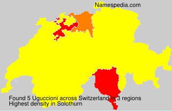Surname Uguccioni in Switzerland