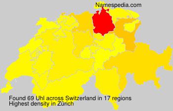 Surname Uhl in Switzerland
