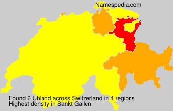 Surname Uhland in Switzerland