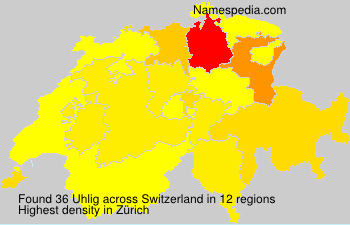 Surname Uhlig in Switzerland