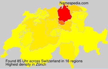 Surname Uhr in Switzerland