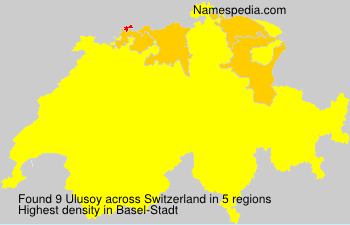 Surname Ulusoy in Switzerland