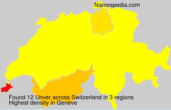 Familiennamen Unver - Switzerland