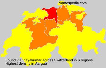 Surname Uthayakumar in Switzerland