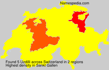 Surname Uzdilli in Switzerland