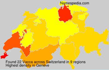 Familiennamen Vacca - Switzerland