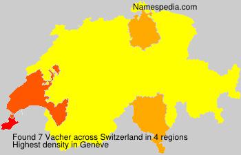 Surname Vacher in Switzerland