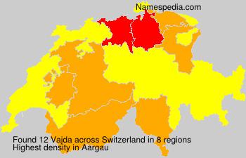 Surname Vajda in Switzerland