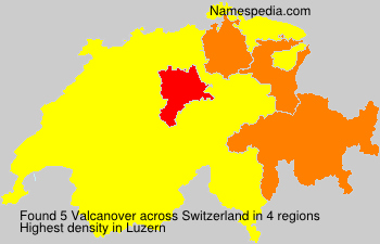Surname Valcanover in Switzerland