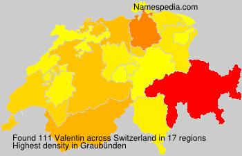 Surname Valentin in Switzerland