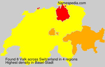 Surname Valk in Switzerland