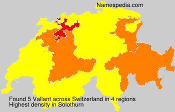 Familiennamen Vallant - Switzerland