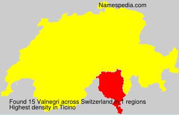 Familiennamen Valnegri - Switzerland