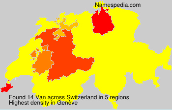 Surname Van in Switzerland