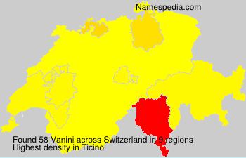 Familiennamen Vanini - Switzerland
