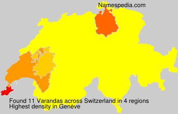 Surname Varandas in Switzerland
