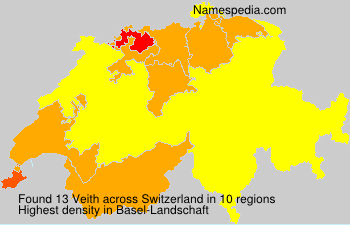 Surname Veith in Switzerland