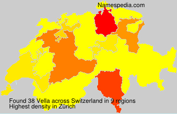 Surname Vella in Switzerland