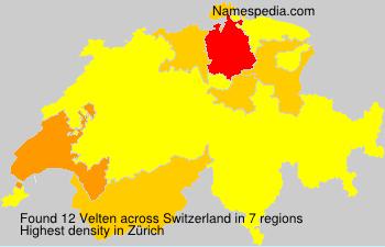 Familiennamen Velten - Switzerland