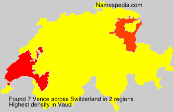 Surname Vence in Switzerland
