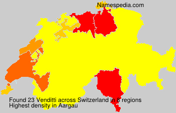 Surname Venditti in Switzerland